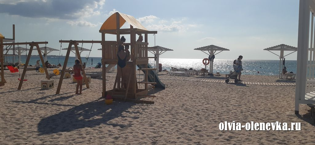 Пляжи Оленевки